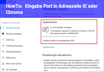 HowTo Eingabe Port in Adreszeile IE oder Chrome