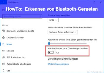 HowTo Erkennen von Bluetooth-Geräten
