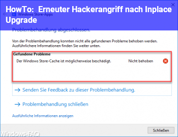 HowTo Erneuter Hackerangriff nach Inplace Upgrade