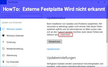 HowTo Externe Festplatte Wird nicht erkannt