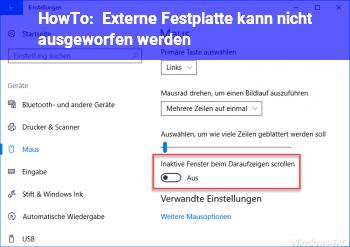 HowTo Externe Festplatte kann nicht ausgeworfen werden