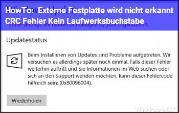 HowTo Externe Festplatte wird nicht erkannt / CRC Fehler / Kein Laufwerksbuchstabe