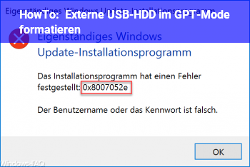 HowTo Externe USB-HDD im GPT-Mode formatieren?