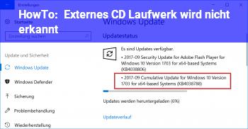 HowTo Externes CD Laufwerk wird nicht erkannt