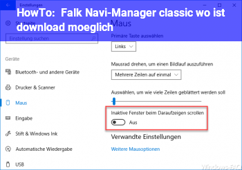 HowTo Falk Navi-Manager classic: wo ist download möglich?