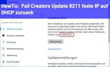 HowTo Fall Creators Update – feste IP auf DHCP zurück?