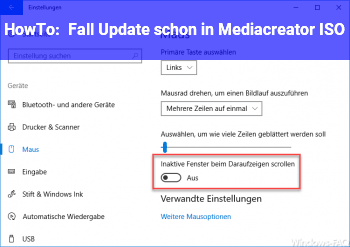 HowTo Fall Update schon in Mediacreator ISO?