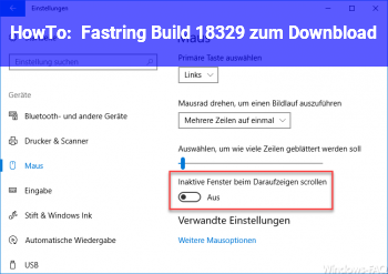 HowTo Fastring Build 18329 zum Downbload