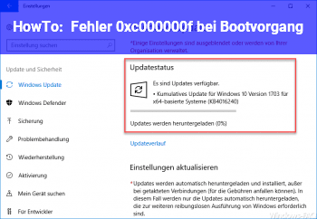 HowTo Fehler 0xc000000f bei Bootvorgang