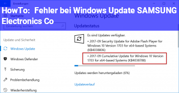 HowTo Fehler bei Windows Update (SAMSUNG Electronics Co)