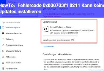 HowTo Fehlercode 0x800703f1 – Kann keine Updates installieren