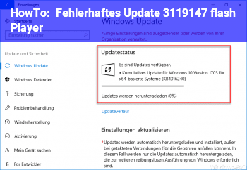 HowTo Fehlerhaftes Update 3119147 (flash Player)