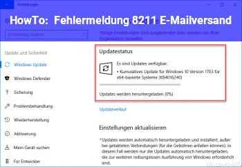 HowTo Fehlermeldung – E-Mailversand