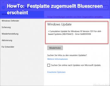 HowTo Festplatte zugemüllt: Bluescreen erscheint??!