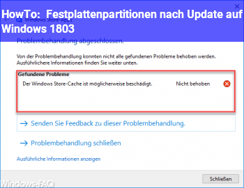 HowTo Festplattenpartitionen (nach Update auf Windows 1803)
