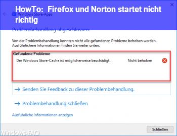 HowTo Firefox und Norton startet nicht richtig
