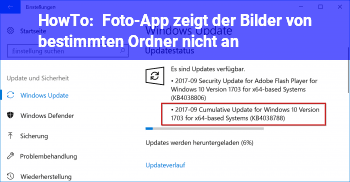 HowTo Foto-App zeigt der Bilder von bestimmten Ordner nicht an