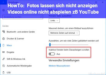 HowTo Fotos lassen sich nicht anzeigen / Videos online nicht abspielen (z.B. YouTube)
