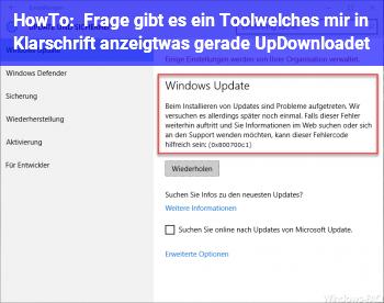 HowTo Frage: gibt es ein Tool,welches mir in Klarschrift anzeigt,was gerade Up/Downloadet?