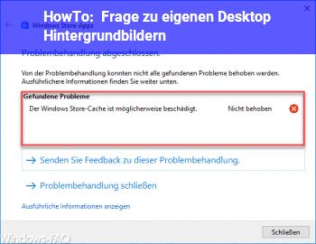 HowTo Frage zu eigenen Desktop Hintergrundbildern