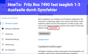 HowTo Fritz Box 7490, fast täglich 1-3 Ausfälle durch Syncfehler