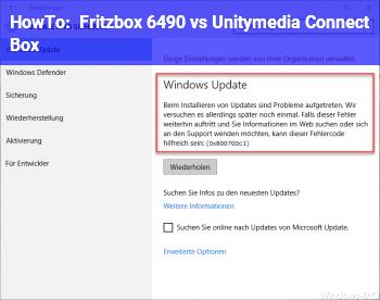 HowTo Fritzbox 6490 vs Unitymedia Connect Box