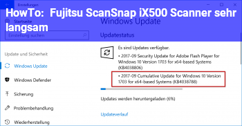 HowTo Fujitsu ScanSnap iX500 Scanner sehr langsam