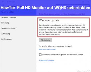 HowTo Full HD Monitor auf WQHD übertakten