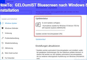 HowTo [GELÖST] Bluescreen nach Windows 8 Installation