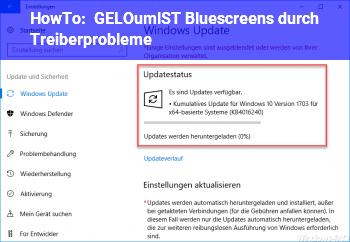 HowTo [GELÖST] Bluescreens durch Treiberprobleme
