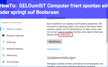 HowTo [GELÖST] Computer friert spontan ein oder springt auf Bootsreen.