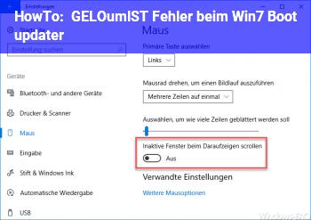 "HowTo [GELÖST] Fehler beim ""Win.7 Boot updater"""