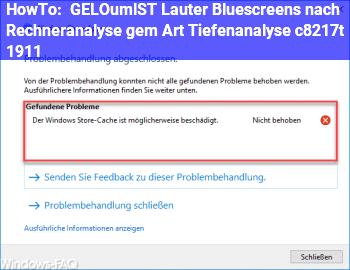 HowTo [GELÖST] Lauter Bluescreens nach Rechneranalyse gem. Art. Tiefenanalyse, c't 19/11