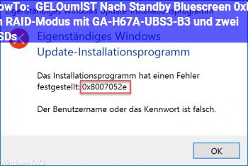 HowTo [GELÖST] Nach Standby Bluescreen 0xF4 im RAID-Modus mit GA-H67A-UBS3-B3 und zwei SSDs