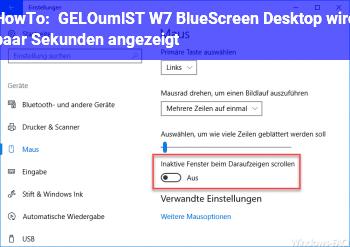 HowTo [GELÖST] W7 BlueScreen, Desktop wird paar Sekunden angezeigt