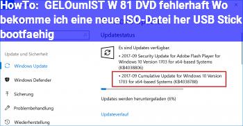 HowTo [GELÖST] W 8.1 DVD fehlerhaft. Wo bekomme ich eine neue ISO-Datei her & USB Stick bootfähig