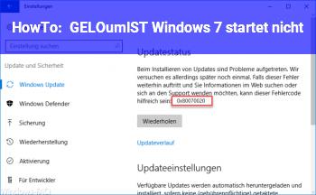 HowTo [GELÖST] Windows 7 startet nicht