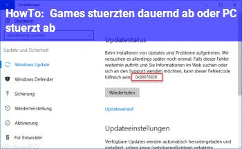 HowTo Games stürzten dauernd ab oder PC stürzt ab