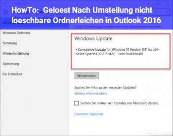 HowTo [Gelöst] Nach Umstellung nicht löschbare Ordnerleichen in Outlook 2016