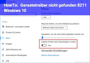 HowTo Gerätetreiber nicht gefunden – Windows 10
