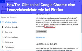HowTo Gibt es bei Google Chrome eine Lesezeichenleiste wie bei Firefox?