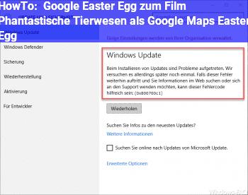 HowTo Google Easter Egg zum Film Phantastische Tierwesen als Google Maps Easter Egg