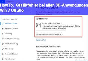 HowTo Grafikfehler bei allen 3D-Anwendungen (Win 7 Ult. x86)
