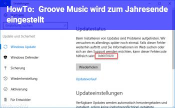 HowTo Groove Music wird zum Jahresende eingestellt