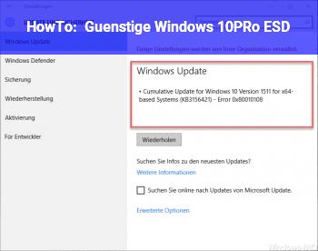 HowTo Günstige Windows 10PRo ESD