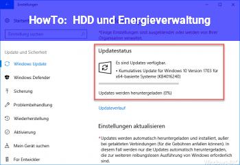 HowTo HDD und Energieverwaltung