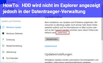 HowTo HDD wird nicht im Explorer angezeigt, jedoch in der Datenträger-Verwaltung