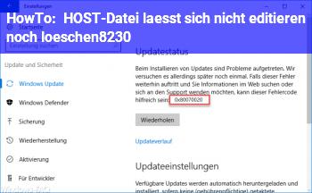 HowTo HOST-Datei lässt sich nicht editieren noch löschen…
