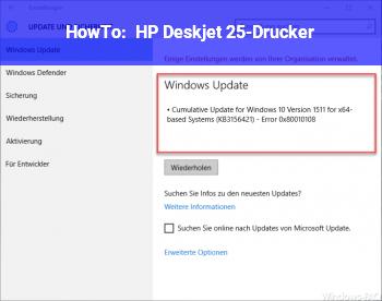HowTo HP Deskjet 25-Drucker