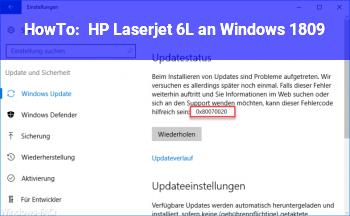 HowTo HP Laserjet 6L an Windows 1809